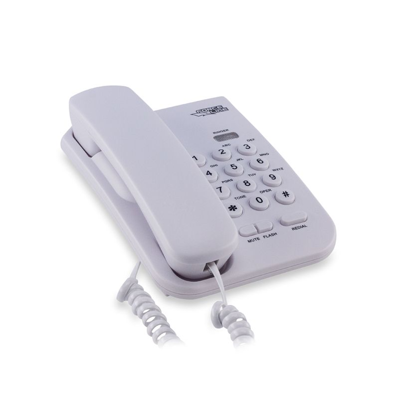 Telefone de Mesa Branco Gelo - ForceLine