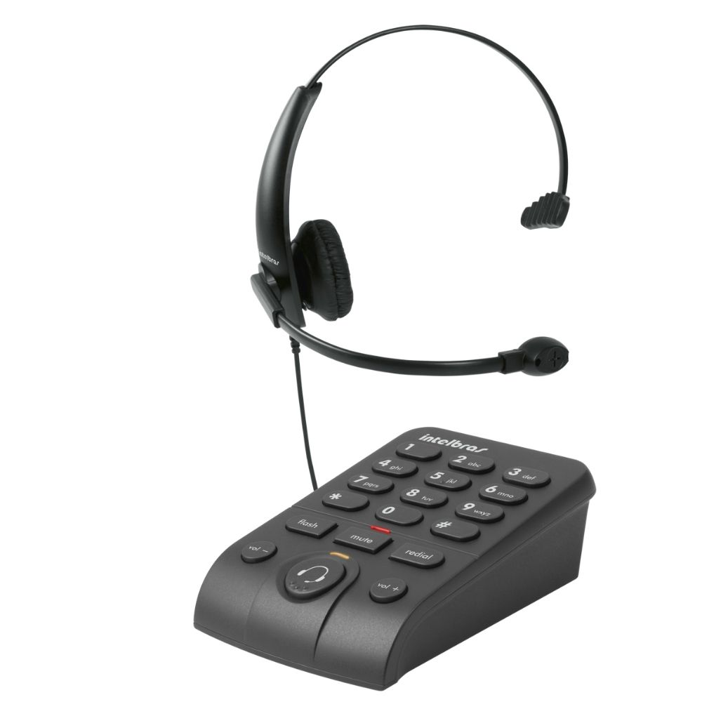 Telefone Headset c/ Base Discadora HSB50 - Intelbras