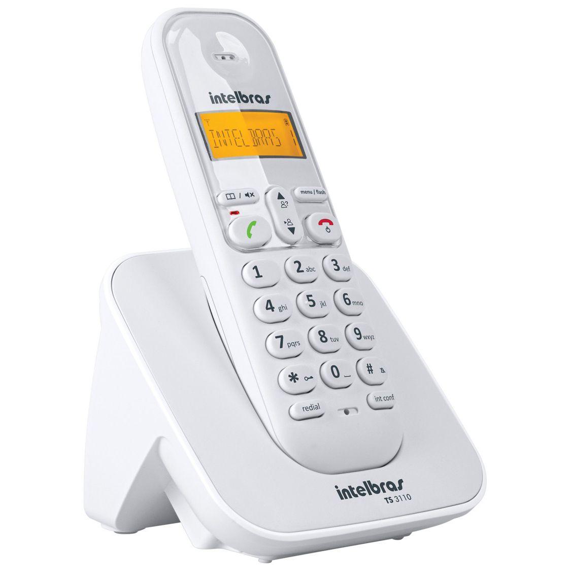 Telefone s/ Fio c/ ID de Chamadas TS 3110 - Intelbras