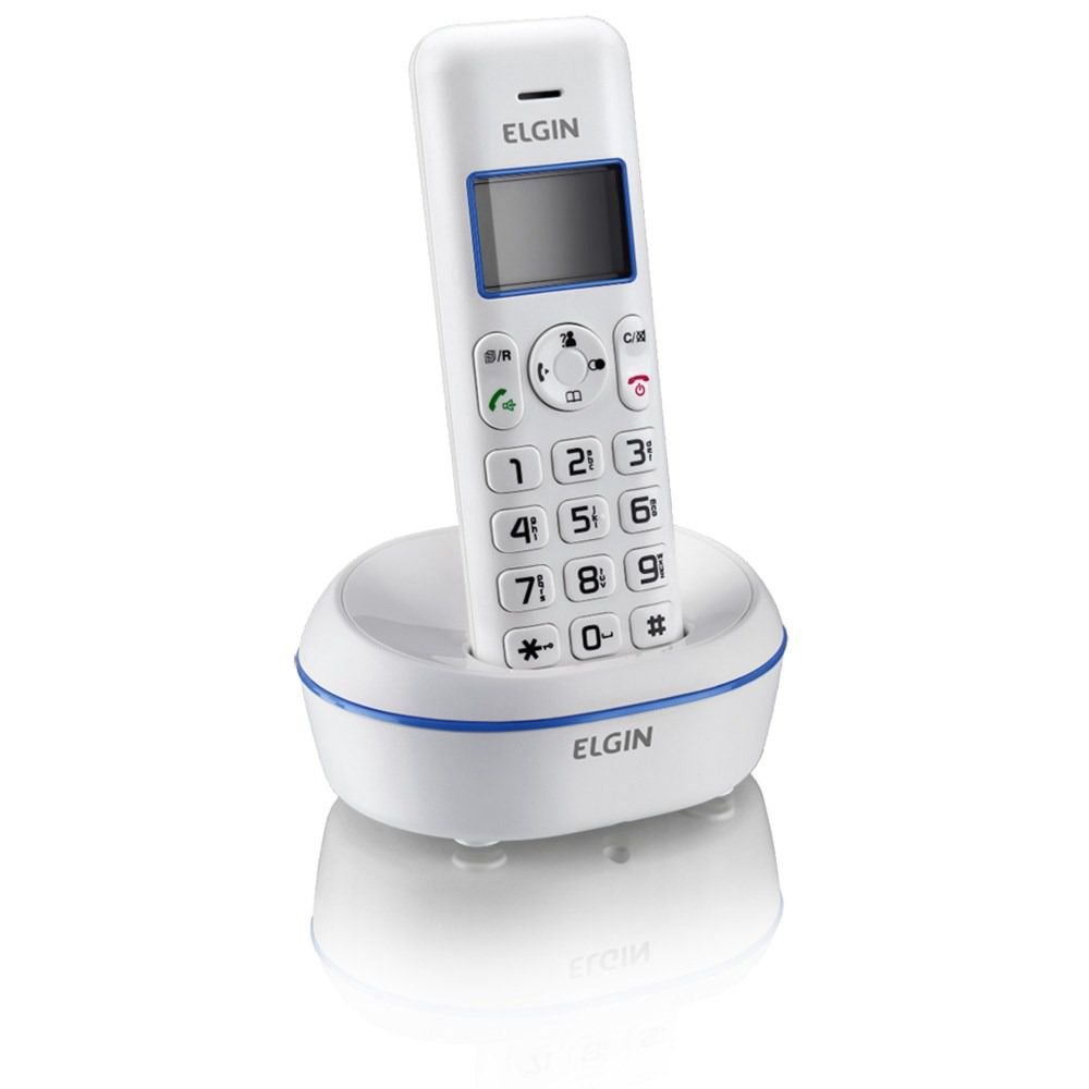 Telefone s/ Fio com ID de Chamadas e Viva-voz TSF 5001 - Elgin (Bivolt)