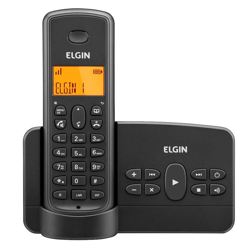 Telefone s/ Fio com Secretária Eletrônica e ID de Chamadas TSF 800SE - Elgin