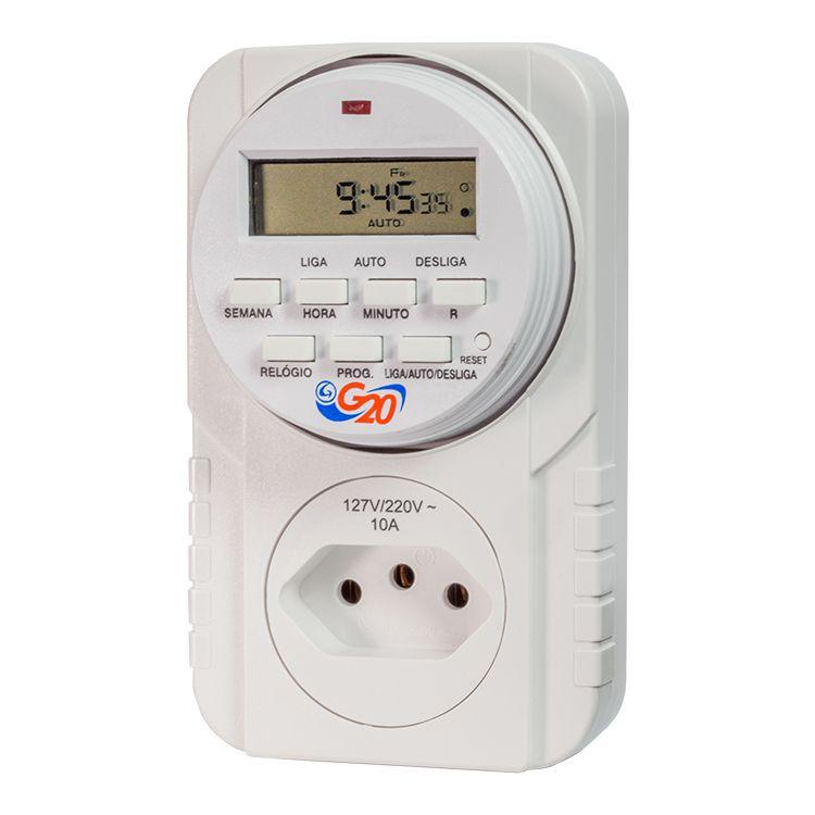 Timer Digital Plugue Autovolt 10A TMP 10211 - G20 (Bivolt)