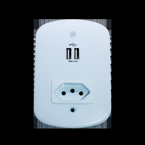 USB Com Tomada Protegida 4x2 - PW