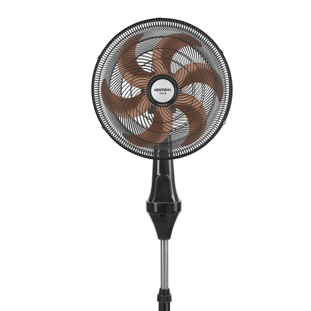 Ventilador de Coluna Turbo 40cm 6 Pás Oscilante Bronze - Ventisol (110V)