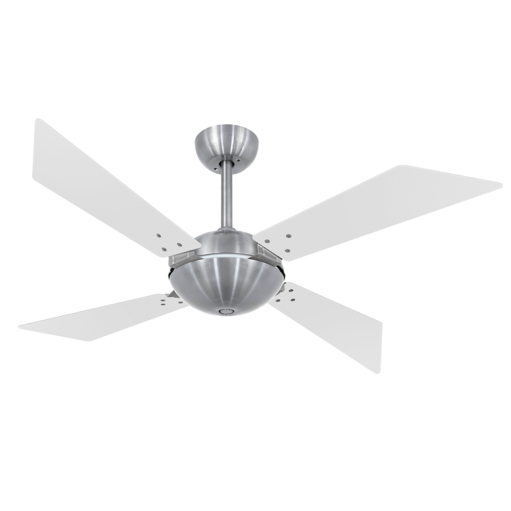 Ventilador de Teto Branco Fosco/Tabaco Premium Class 127V - Volare