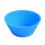 Forma Individual Silicone p/ Cupcakes 6 Unidades