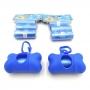Porta Saquinhos Pet com 10 Rolos de Refil - Azul