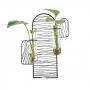 Suporte de Metal Com Vaso Para Plantas Hidropônicas