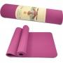 Tapete de Yoga Rosa TPE Eco 183x61cm 6mm