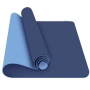 Tapete Yoga TPE Duas Cores 183x61cm Azul Escuro e Claro