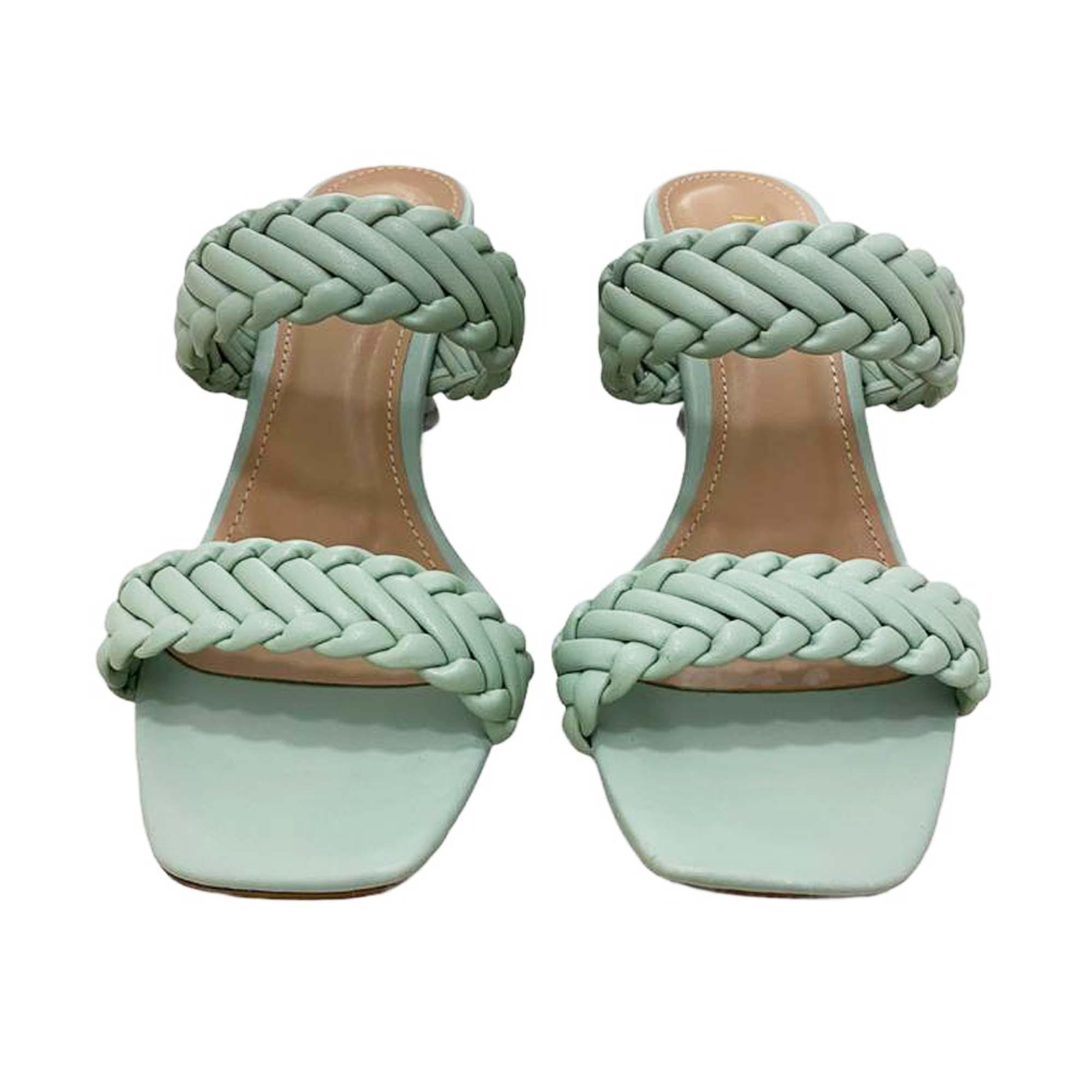 Tamanco Feminino Tiras rançado Salto Taça NK Shoes - 73-008