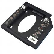 Adaptador HDD/SSD Para Notebook Via Baia De 12,7Mm CD/DVD - GA173