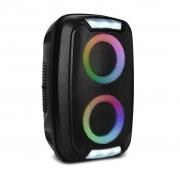 CAIXA DE SOM MINI TORRE PORTATIL BLUETOOTH 250W RMS USB/SD/TWS/FM BAT MULTILASER PRETO- SP400