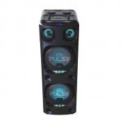 Caixa de Som Torre Duoble Pulse bluetooh 2200 Rms aux/sd/usb/fm/led Multilaser preto - SP500