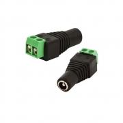 Conector Plug P4 Femea Com Borne Para Cftv -  FCP4FBRN