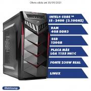 DESKTOP INTEL CORE I5 2400 3.10Ghz 4GBDDR3 SSD120GB VGA HDMI FT230W G.G70BK LINUX(U)