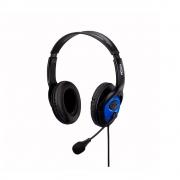 Fone de Ouvido Headset Gamer/Office Hayom Conexao Duplo P2 Cabo de 2,0 Mt HF2208 Preto e Azul