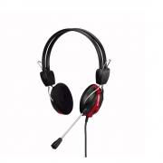 Fone de Ouvido Headset Office Plus Hayom Conexao Duplo P2 Cabo de 2,0 Mt HF2209