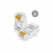 Kit c/ 10 Conectores RJ45 CAT5E Soho Plus Lan Plug Rede - Hayom - AI1012