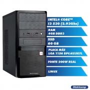 Kit DESKTOP INTEL CORE I3 530 2.93Ghz 4GBDDR3 SSD60GB VGA HDMI FT200W GN T/M  LINUX(U)
