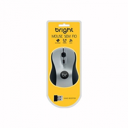 Mouse Sem Fio Bright Suíça Prata - 0205