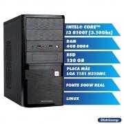 Pc Computador Desktop Core I3 8100T 3.10Ghz 4GBDDR4 SSD120GB HDMI FT500WPFCAT GN LINUX(U)