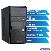 Pc Computador Desktop Core I5 9500 3.00Ghz 4GBDDR4 SSD120GB VGA HDMI FT500WPFCAT GN LINUX(U)