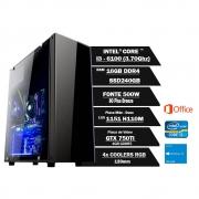 Pc Gamer Intel Core I3 6100 3.70Ghz 16GB Ssd240GB Gtx750ti 4Gbddr5  330Atx W10Home OF2013