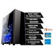 Pc Gamer Intel Core I3 6100 3.70Ghz 8GB Ssd240GB Gtx750ti 4Gbddr5  330Atx W10Home OF2013