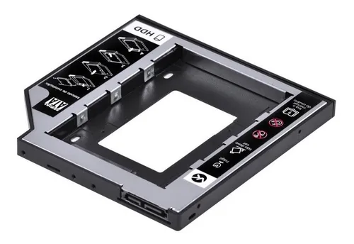 Adaptador HDD/SSD Para Notebook Via Baia De 9,5Mm CD/DVD - GA172  - Districomp Distribuidora