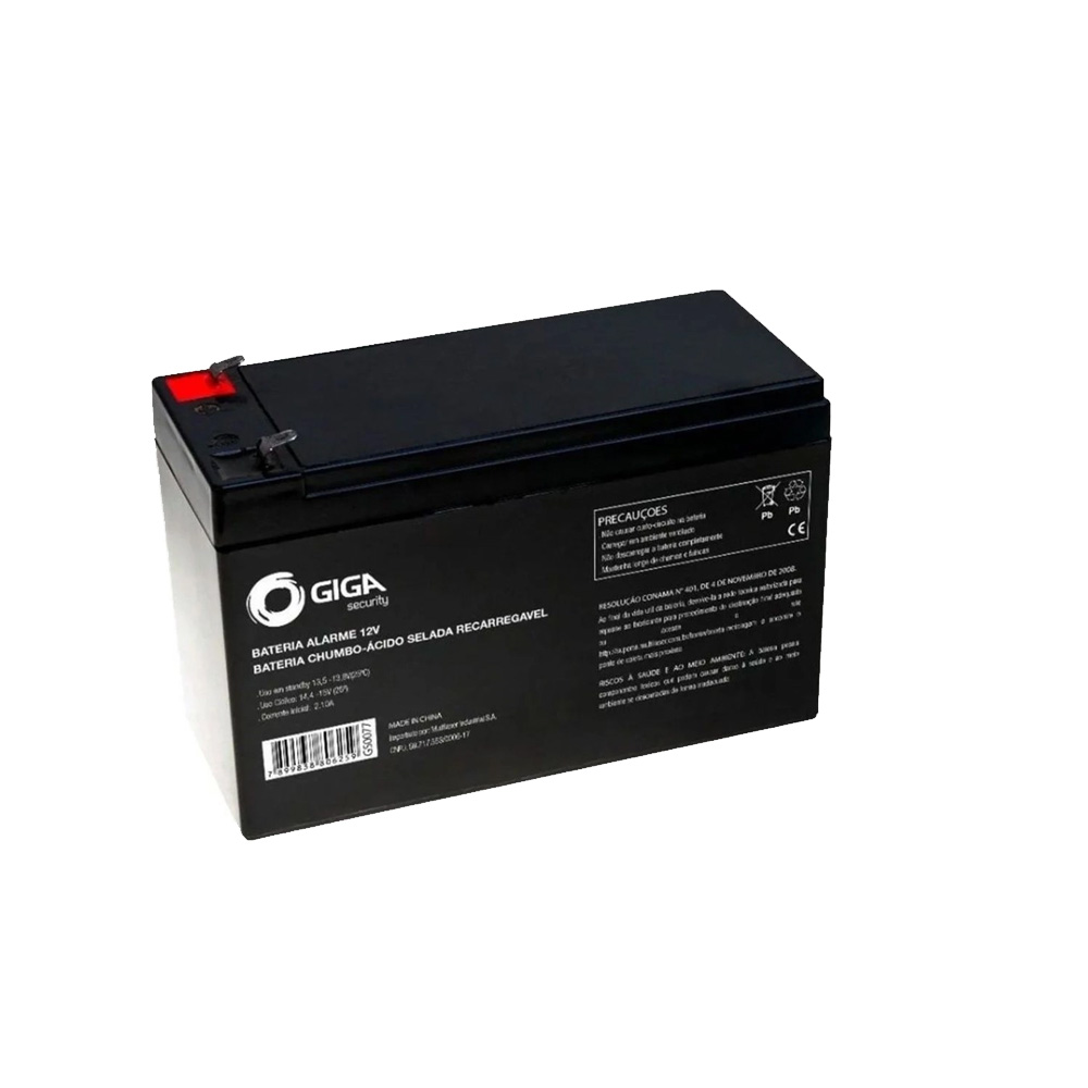 Bateria Para Alarme E Cerca Eletrica Giga Security 12v - GS0079
