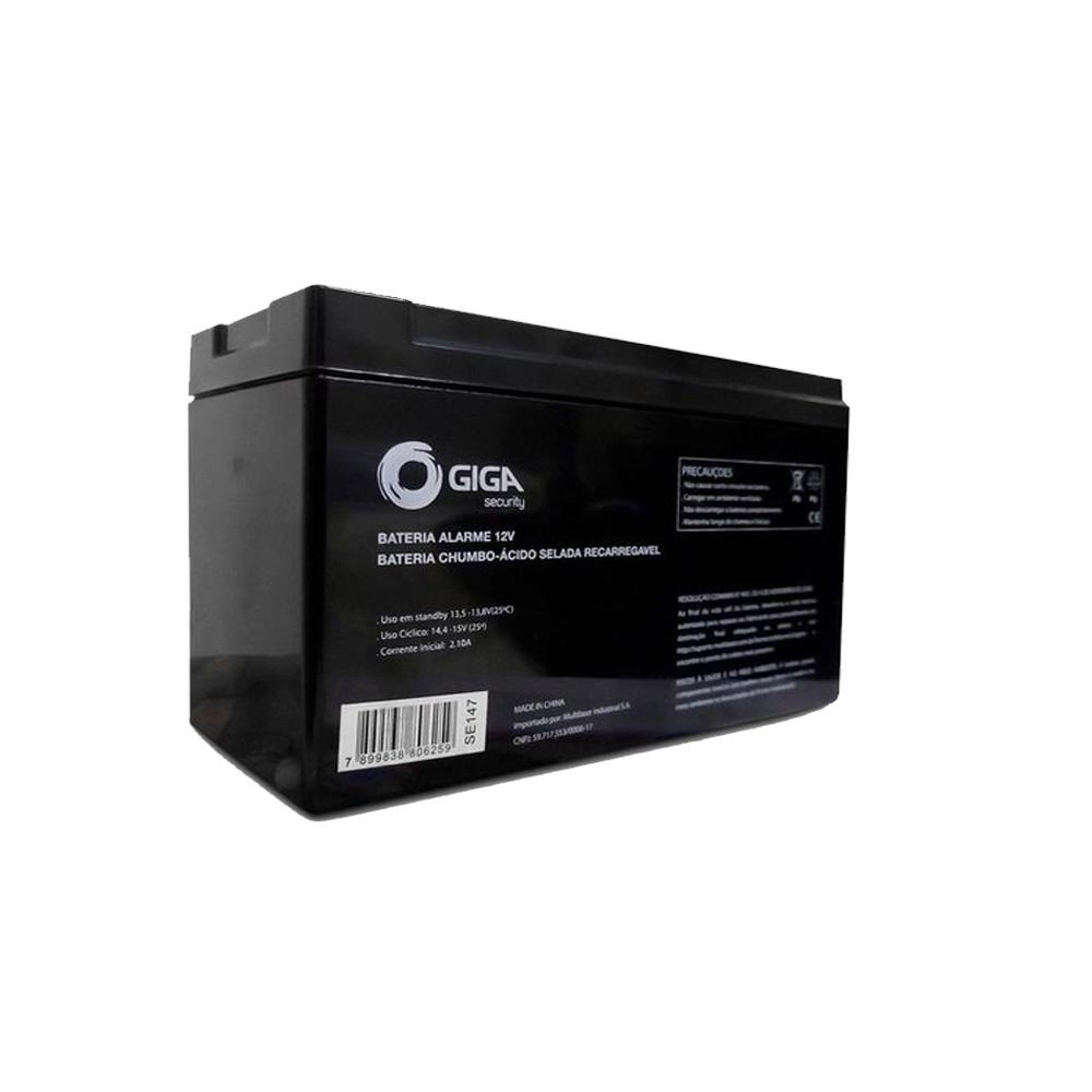 Bateria Para Alarme E Cerca Eletrica Giga Security 12v - GS0079  - Districomp Distribuidora