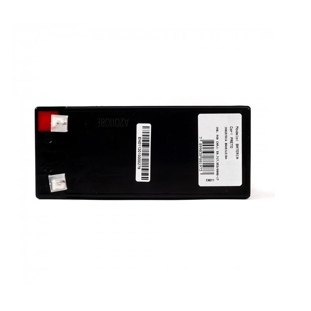 Bateria Powertek 12V - 7AH - Alarme e Cerca Eletrica - EN011  - Districomp Distribuidora