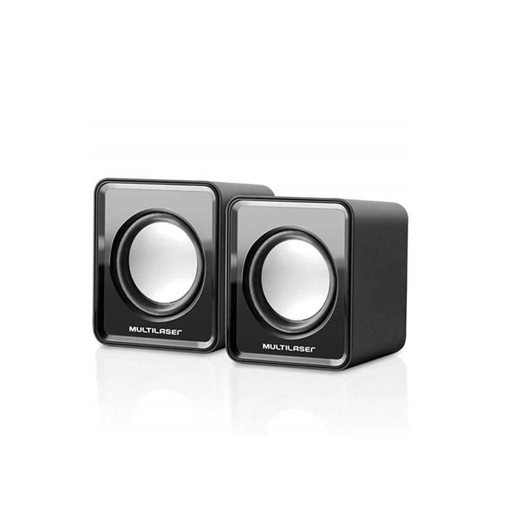 Caixa De Som Mini Multilaser SP144 2.0 3W Rms Potencia Preta  - Districomp Distribuidora