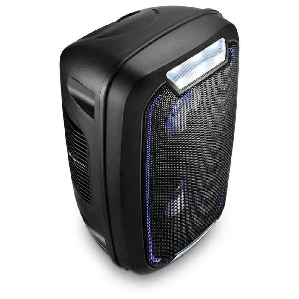 CAIXA DE SOM MINI TORRE NEON BLUETOOTH 200W RMS USB/P2/FM/AUX BAT MULTILASER PRETO- SP336  - Districomp Distribuidora