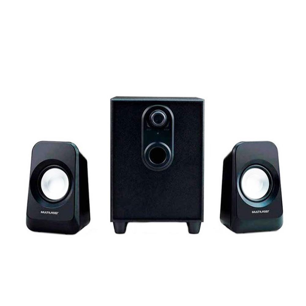 Caixa De Som Multilaser Super Bass 2.1 Preta Bivolt 20w Rms - SP377