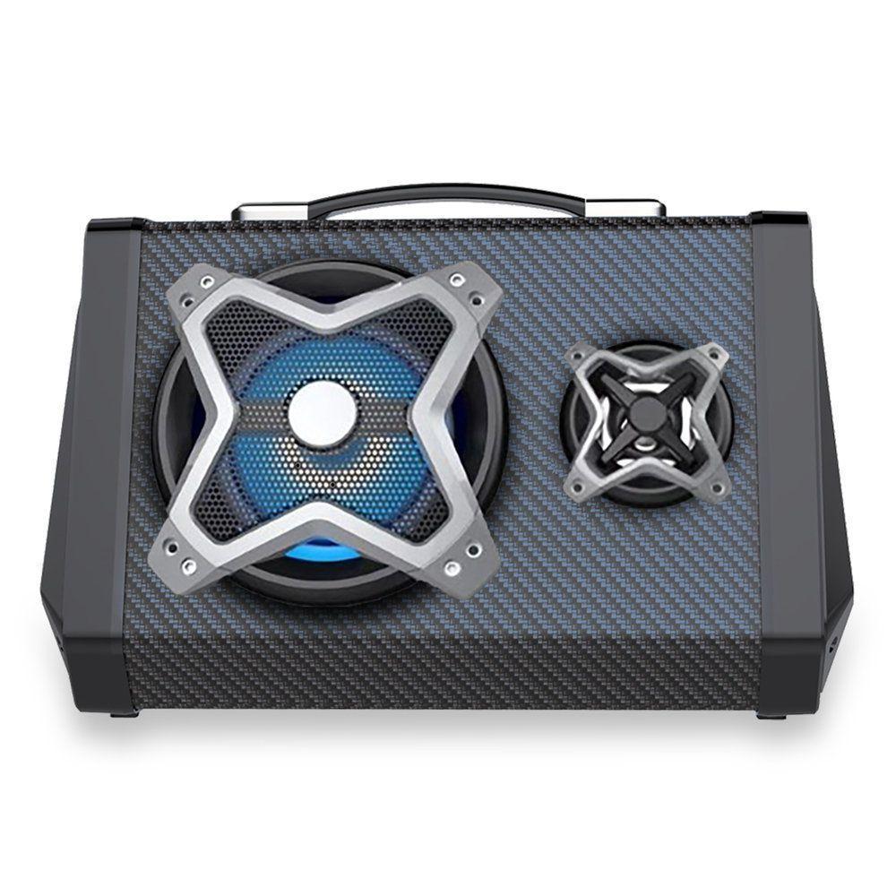 CAIXA DE SOM PORTATIL BLUETOOTH 120W RMS USB/SD/P2/FM BAT MULTILASER PRETO- SP314