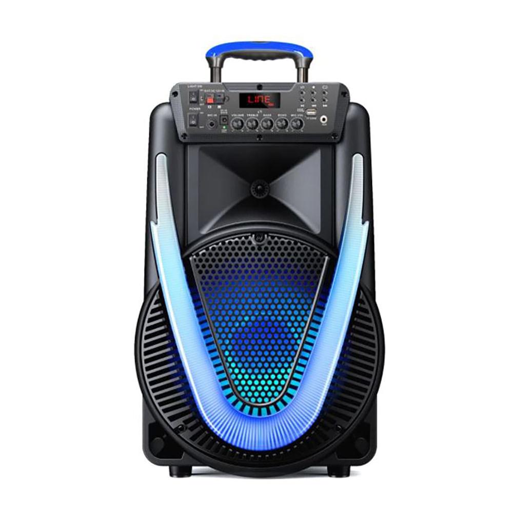 CAIXA DE SOM SUNNY II BLUETOOTH 500W RMS AUX/SD/USB/FM/LED BAT MULTILASER PRETO - SP395  - Districomp Distribuidora