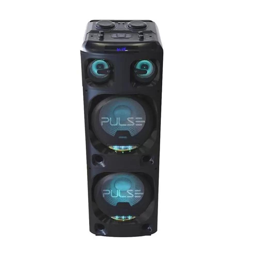 Caixa de Som Torre Duoble Pulse bluetooh 2200 Rms aux/sd/usb/fm/led Multilaser preto - SP500  - Districomp Distribuidora