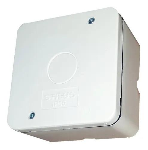 Caixa Plástica De Sobrepor externa para CFTV IP65 BRANCA - FCCX030N  - Districomp Distribuidora