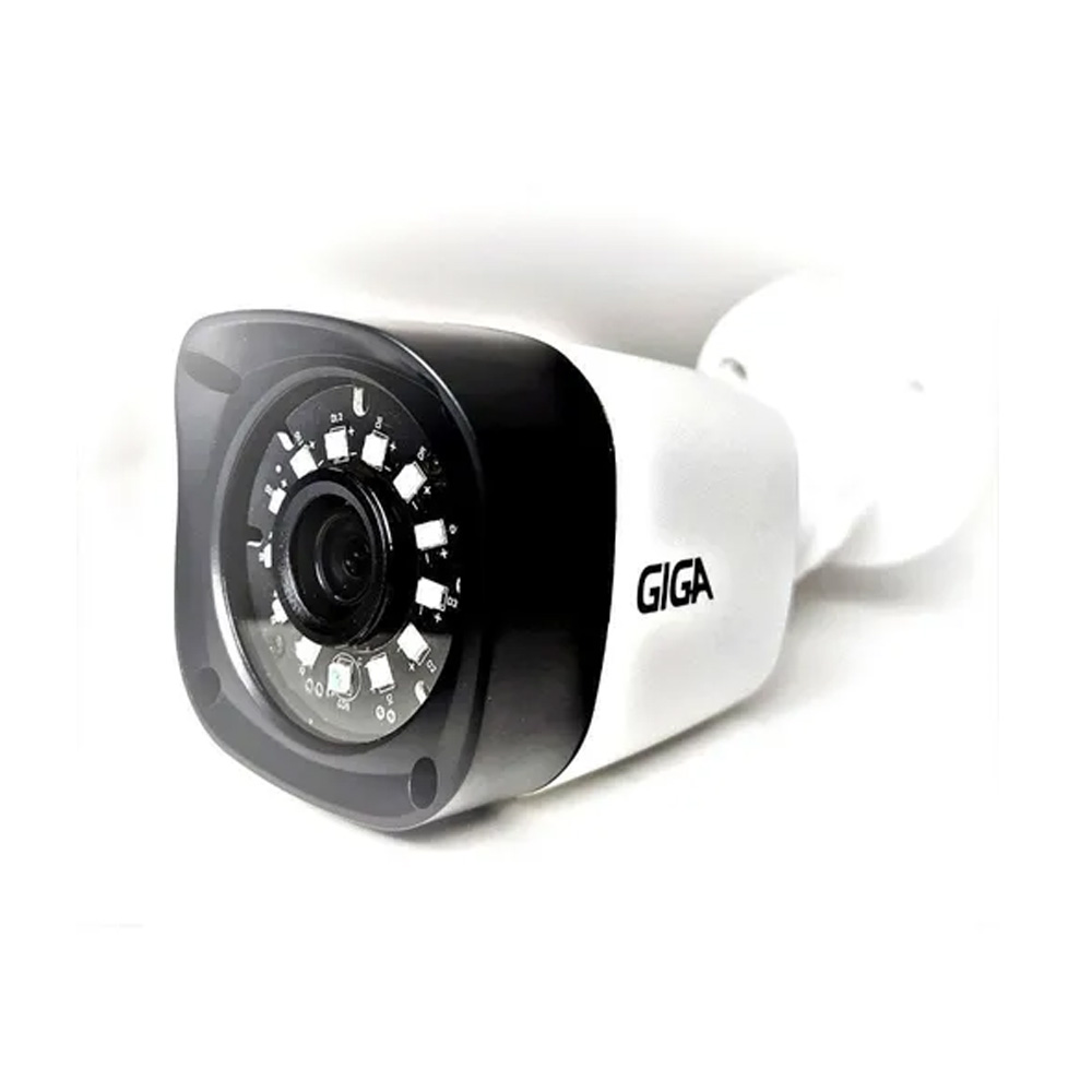 Camera de Segurança Giga Security Bullet hd 720p Infra Serie Orion ir 20m 1/4 3.2m ip66 - GS0018  - Districomp Distribuidora