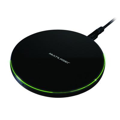 Carregador Wireless Concept Preto 10w - CB130  - Districomp Distribuidora