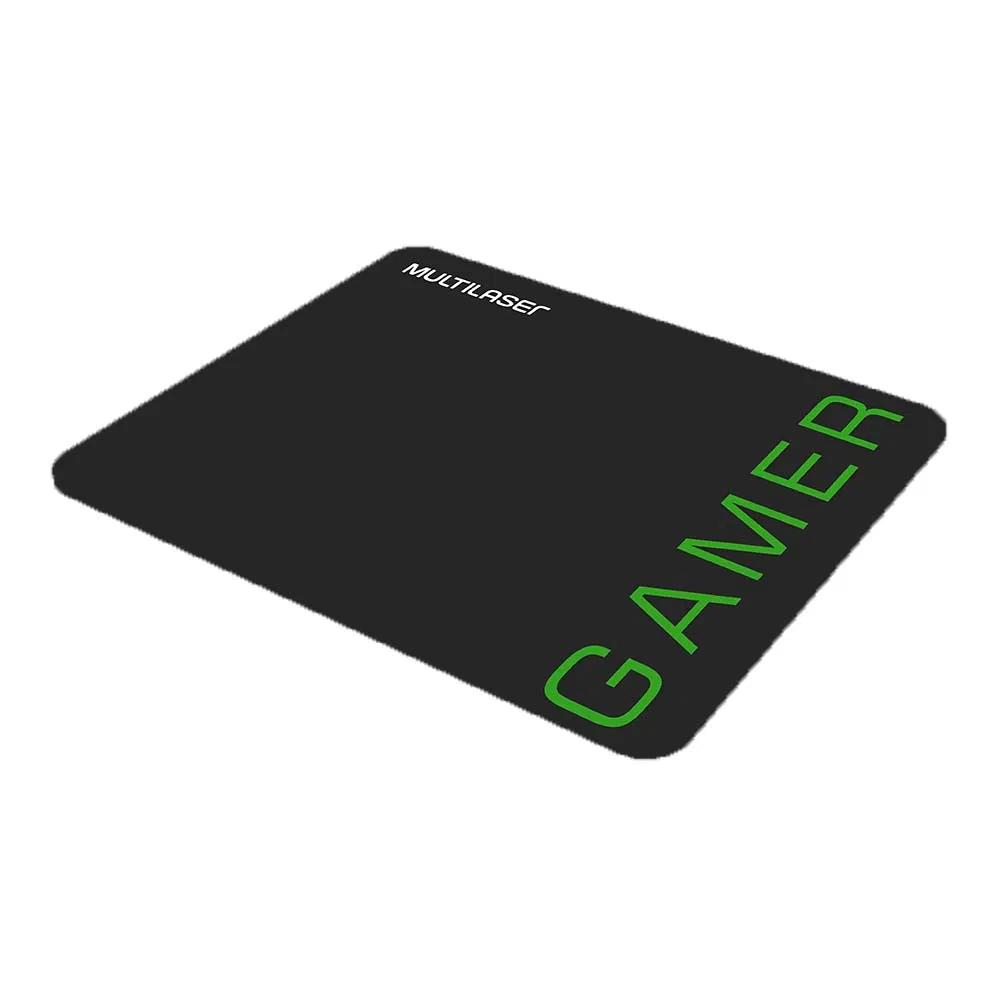 Combo Mouse 3200dpi e Mousepad Gamer Verde - MO273  - Districomp Distribuidora