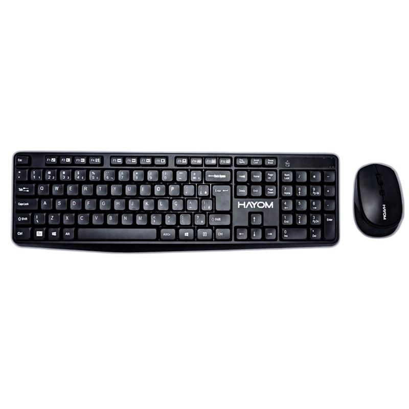 Combo Teclado e Mouse Sem Fio Hayom Office TC3211  - Districomp Distribuidora