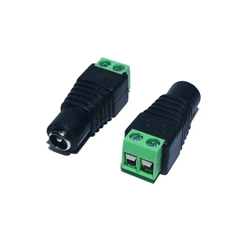 Conector Plug P4 Femea Com Borne Para Cftv -  FCP4FBRN  - Districomp Distribuidora