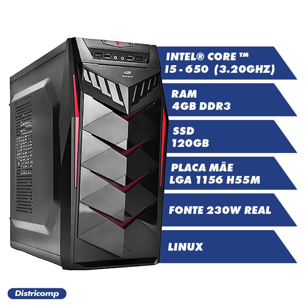 DESKTOP INTEL CORE I5 650 3.20Ghz 4GBDDR3 SSD120GB VGA HDMI FT230W G.G70BK LINUX(U)
