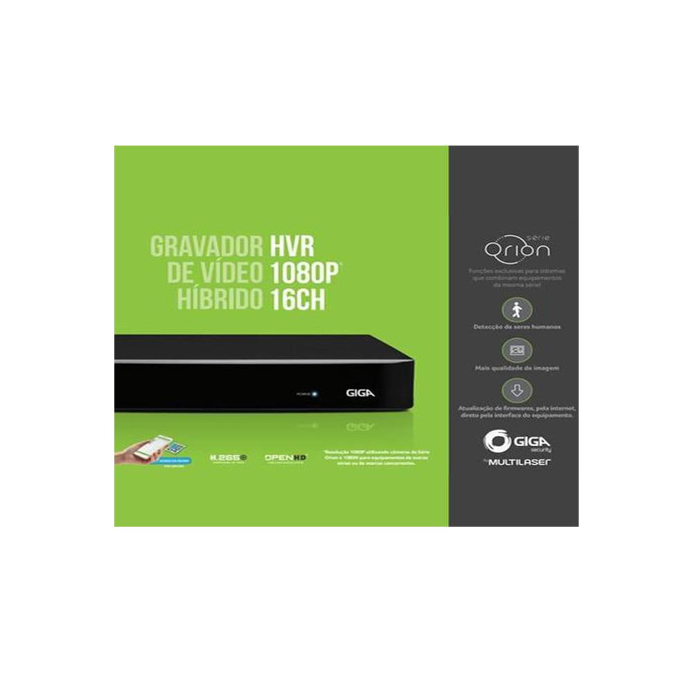Dvr Hibrido 2.0 Giga Security Open 1080p 16Canais - GS0182  - Districomp Distribuidora
