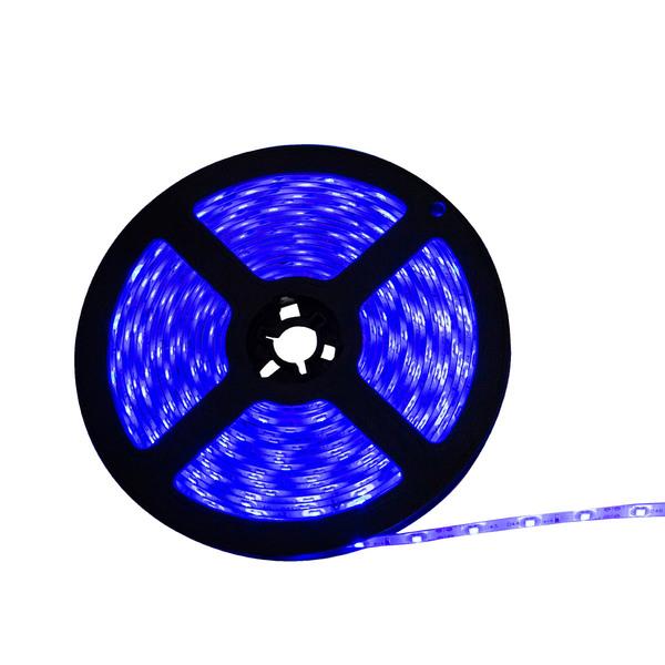 FITA LUMINARIA DE LED 5 MTS DE 10 MM  B-AZUL - 5050-60 - 30290020020  - Districomp Distribuidora