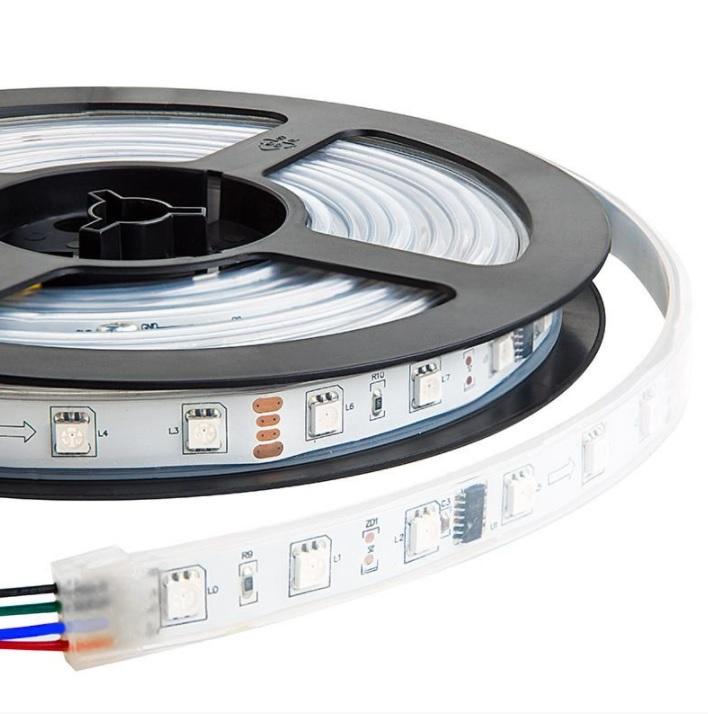 FITA LUMINARIA S/ CONTROLE DE LED 5 MTS DE 8 MM RGB (VERM, VERD, AZUL) - 3528-60 - 30290020044  - Districomp Distribuidora