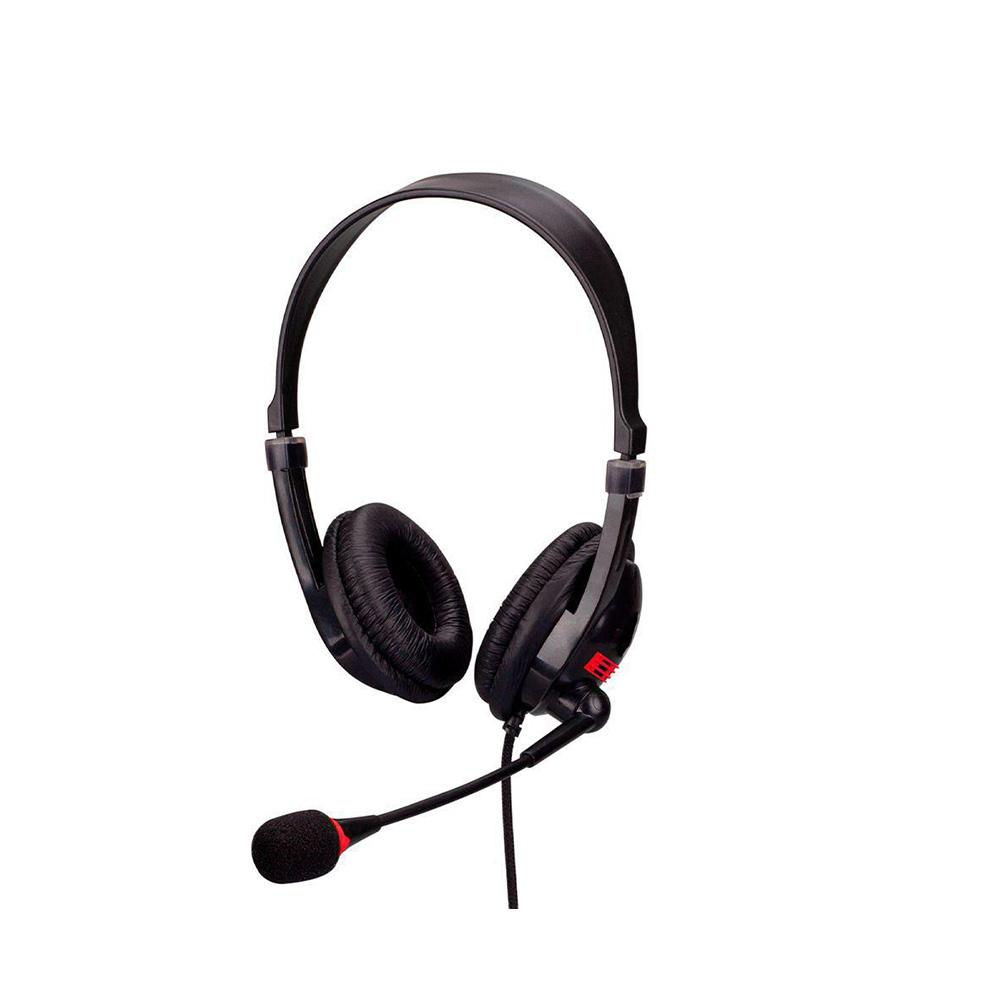Fonde de Ouvido Headset Office Standard Hayom Conexao Duplo P2 Cabo 2,0 Mt Controle Volume HF2211